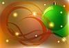 Фото 300 DPI: новогодняя открытка с елочными шарами
