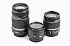 A set of three lenses for DSLR camera | Stock Foto