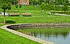 ID 3089915 | Drewniana ławka w parku | Foto stockowe wysokiej rozdzielczości | KLIPARTO