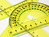 Photo 300 DPI: set of measurement instrument- protractor, ruler