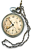 Old pocket watch with chain | Stock Foto