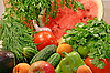 Colorful fresh vegetables and fruits | Stock Foto