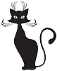 Vector clipart: Black cat