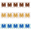 Vector clipart: Stylized ornament with butterflies