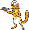 Vector clipart: Red cat chef
