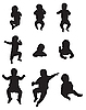 Baby silhouettes | Stock Vector Graphics
