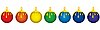 Vector clipart: christmas-tree decorations