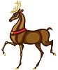 Vector clipart: Weihnachts Deer of Santa Claus