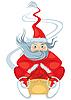 Vector clipart: Santa Claus sleigh rides
