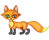 Vector clipart: little fox