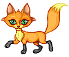 Vector clipart: Running little fox
