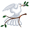 Vector clipart: dove with olive branch
