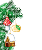 Vector clipart: Christmas tree with decorations