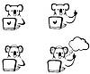 Vector clipart: koala with laptop