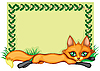 Vector clipart: Frame with fox