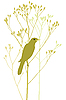 Vector clipart: Bird on branch