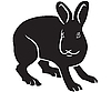 Vector clipart: silhouette of hare
