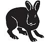 Векторный клипарт: Силуэт зайца