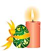 Kerze und Ei