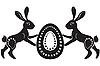 Vector clipart: pair of easter hares