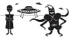 Vector clipart: extraterrestrials