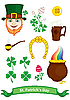 Vector clipart: Symbols of St. Patrick`s Day