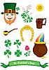 Vektor Cliparts: Symbole von St. Patrick`s Day