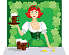 Vector clipart: girl with mug of ale