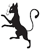Vector clipart: Black cat profile