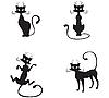 Vector clipart: Black cat