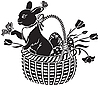 Vector clipart: basket with the hare