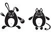 Vector clipart: cat and rabbit