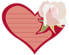 Vector clipart: Postcard with rose