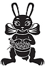 Vector clipart: Hare with basket