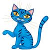 Vector clipart: Cute kitten