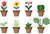 Vector clipart: Window plants