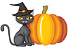 Vector clipart: Halloween kitty
