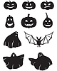 Vector clipart: Pumpkin and ghosts