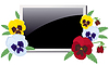 Vector clipart: Photo frame in violets