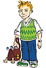 Vector clipart: Student with bag