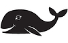 Vector clipart: Whale smiles