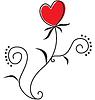 Векторный клипарт: цветочное сердце