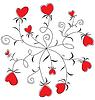 Векторный клипарт: Хоровод цветов сердца