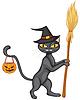 Векторный клипарт: Хэллоуин - котенок