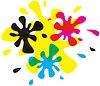 Vector clipart: Blob CMYK