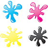Vector clipart: Blots CMYK