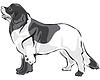 Векторный клипарт: Landseer собак
