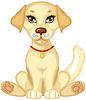 Vector clipart: Cute pale puppy