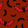 Seamless pattern with vampires | Stock Vector Graphics