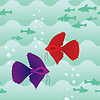 Vector clipart: Seamless pattern with fish
